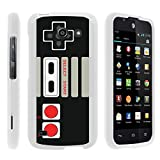 MINITURTLE Case Compatible w/ [Huawei Tribute Case, AT&T Fusion 3 Case][Snap Shell] Hard Plastic Slim White Snap on case w/ Unique Designs Game Controller Review