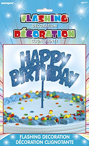 Flashing Happy Birthday Topper Decoration product image