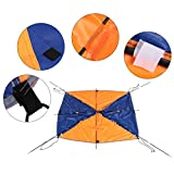Baoblaze-Lightweight-Folding-Sun-Shelter-Sailboat-Awning-Top-Cover-Fishing-Tent-Sun-Shade-Rain-Canopy-for-Seahawk-Inflatable-Kayak-Canoe-Boat-Top-Kit-with-Hardware