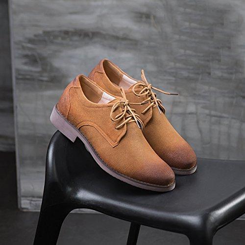 Con Planos 41 Color Eu Cordones Zapatos Talla Marrón Hombre Minitoo 5Ef6qww