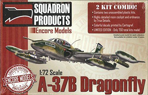 Encore Models 1/72 Scale A-37b Dragonfly Aircraft Model Building Kit - Fly Model Aircraft