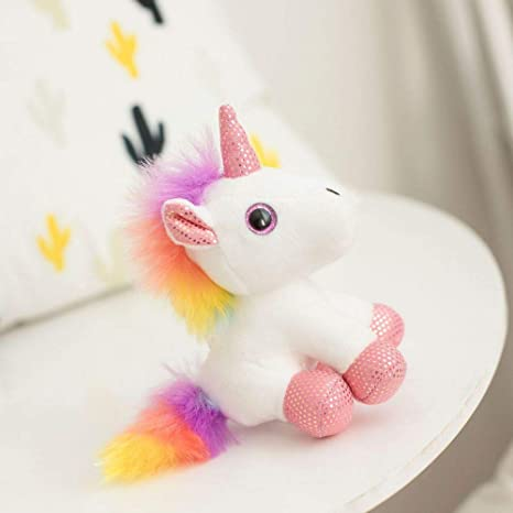 YEARYOWN Peluche Dulce Unicornio Animal Mini Muñeca Linda ...