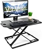 "VIVO Black Height Adjustable Standing 32"" Desk Sit Stand Converter Tabletop Monitor Laptop"