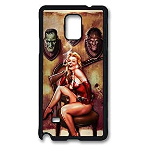 Halloween Pinup Monster Trophies Rifle Protective Hard PC Snap On Case for Samsung Galaxy Note 4 -1122005