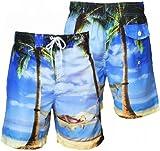 Tokyo Laundry Men's Casual Summer Swim Shorts Large Blue