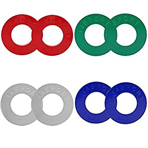 44SPORT Olympic Fractional Plates -Pair of 1/4, 1/2, 3/4, 1 lb Weights (8 Total)