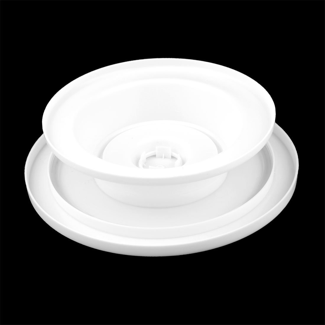 DealMux plástico Home Cocina Panadería forma redonda Pastelaria do Bolo do queque decoração Turntable Branco: Amazon.es: Hogar