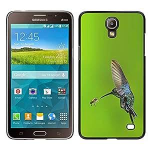 EJOY---Cubierta de la caja de protección para la piel dura ** Samsung Galaxy Mega 2 ** --alas de vuelo de aves colibrí verde