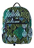 Vera Bradley Campus Backpack with Solid Color Interior (Updated Version) (Caribbean Sea with Navy Interior)