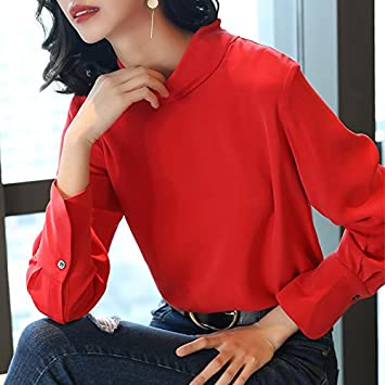 b518f9197cbca7 Silk like Dragon Pritning Shirts Source · XXIN Coat The Girl Back Small  High Collar Solid Color Silk Shirts