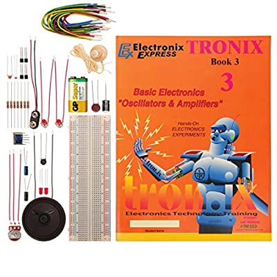 Electronix Express TRONIX 3 LAB Basic Electronics Oscillators and Amplifiers Lab: Toys & Games