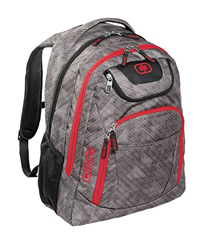 Ogio Excelsior Padded Backpack (Cynderfunk/ Red)
