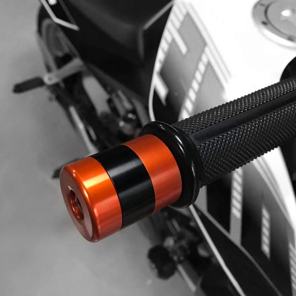 TREONK 2 Pcs Manopole Blocco 22mm 7//8 Contrappesi per Manubrio,Moto Manubrio Blocco Caps per Kawasaki Z650 Z750 Z800 Z900 Z1000 Z100SX ZX 6R VERSYS Ninja Z250 Z300 G310GS G310R KYMCO Arancia