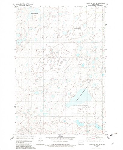 YellowMaps Coldwater Lake NE ND topo map, 1:24000 Scale, 7.5 X 7.5 Minute, Historical, 1982, Updated 1982, 27 x 22 in - Polypropylene