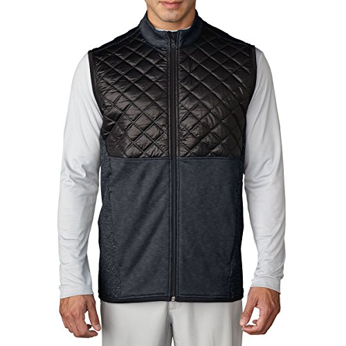 Adidas Golf 2016 Climaheat Prime Fill Gilet Insulated Quilted Mens Golf Thermal Vest Dark Grey Heather/Black Medium -  AF035112_Gris-M