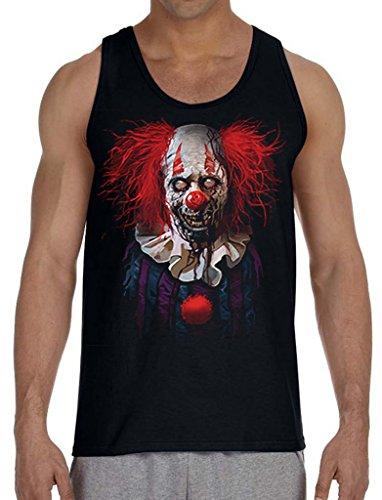 Interstate Apparel Men's Zombie Clown Black Tank Top X-Large Black ()