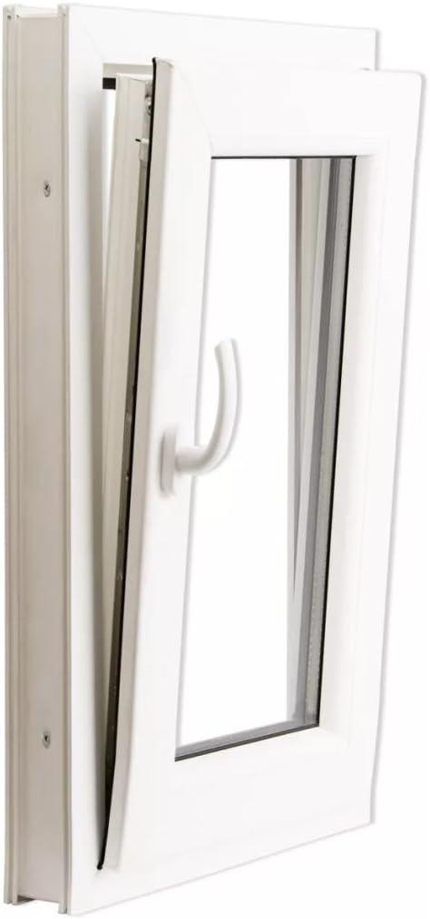 Ventana PVC oscilo-batiente con manilla en la izquierda 500 x 750 mm: Amazon.es: Bricolaje y herramientas