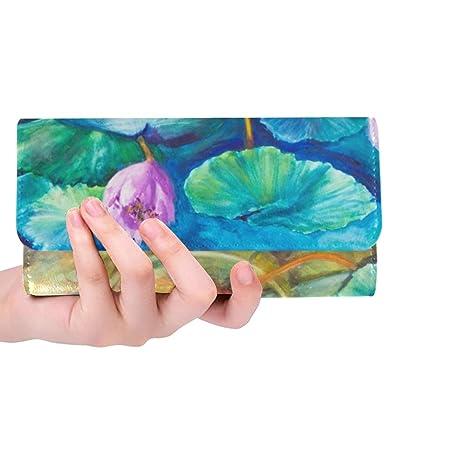 Único Personalizado Pintura de Acrílico Monets Agua Lily ...