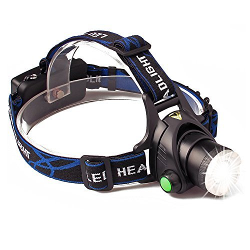 ONSON LED Headlamp,3 Modes Zoomable Flashlight,Super Bright Waterproof Headlight with Rechargeable Batteries for Camping Riding Fishing Hunting Reading Rainy Weather