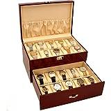 20 Watch Display Case Cherrywood Color Storage Box New
