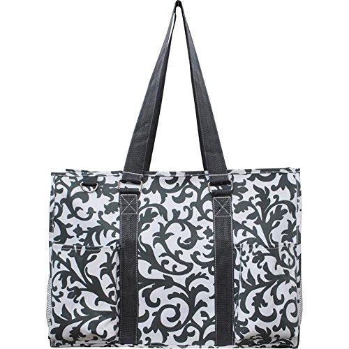 N Gil All Purpose Organizer Medium Utility Tote Bag 2 (Damask Grey)]()