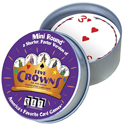 Five Crowns Mini Round Card (Round Mini Tin)