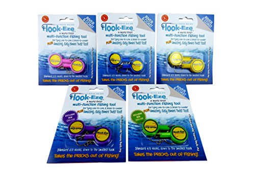 HOOK-EZE Fishing Gear Knot Tying Tool for Hooks Swivels Speed Clips for Lures | Cover Hooks on Fishing Poles| Line Cutter Ideal for Bass Kayak Ice Fishing