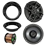 Best BOSS Audio Car Covers - 98-13 Harley Speaker Bundle: 2X Kicker 40CS654 6.5
