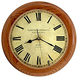 14-inch Finest Round OAK Solid Wood Quality Quartz Wall Clock Home Decor (WW0123-11)