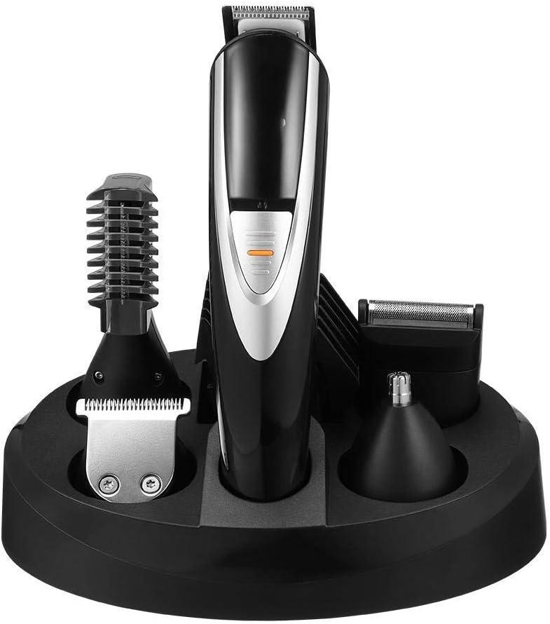 鼻毛カッター 1バリカンキットメンズエレクトリックグルーミングトリマーのためにヒゲ鼻耳ひげボディ防水USBで12 (色 : ブラック, サイズ : 15x3.7x3.4cm)