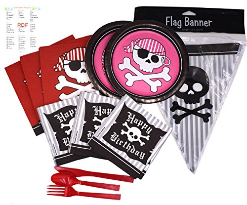 Pirate Party Supplies Bundle (Pirate 16 -