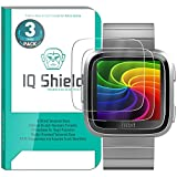 IQShield Fitbit Versa Screen Protector (3-Pack), Tempered Ballistic Glass Screen Protector for Fitbit Versa 99.9% Transparent HD and Shatter-Proof Shield