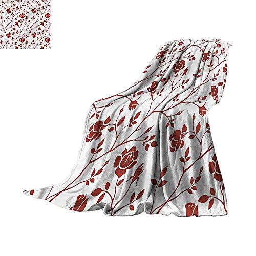 - homehot Throw Blanket Floral,Flower Scroll Swirls 70