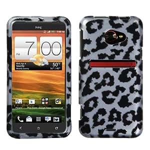 MYBAT Black Leopard (2D Silver) Skin Phone Protector Cover for HTC EVO 4G LTE