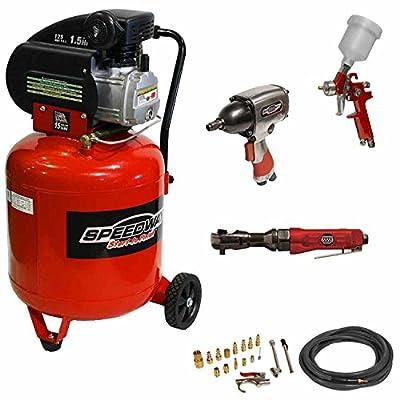 Speedway 8502 15-Gallon Vertical Air Compressor Kit