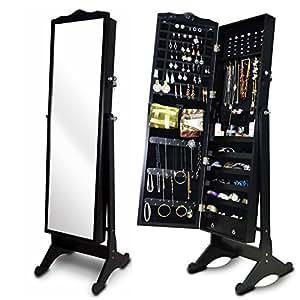 Amazon.com: Organizedlife Black Wood Jewelry Armoire Large ...