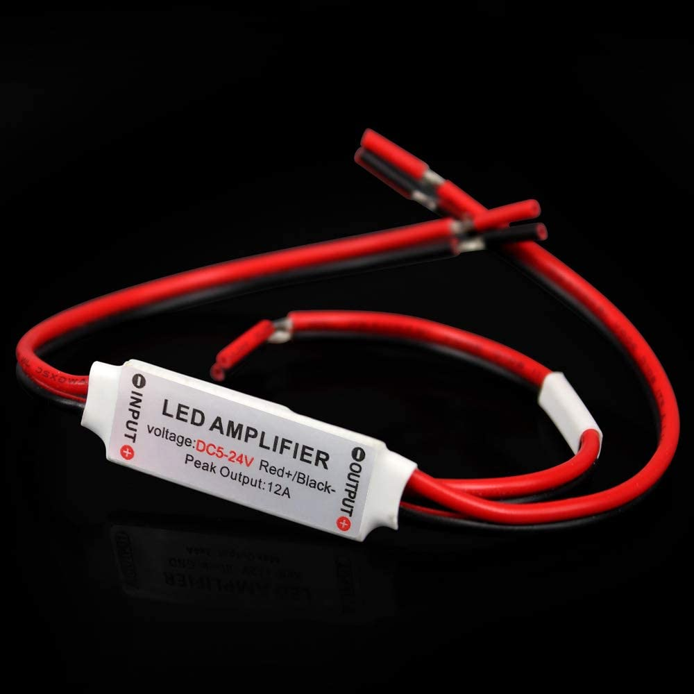 Súper Mini 5V / 12V 24V 12A Amplificador Controlador para Tira de Solo Color (Monocromo) LED