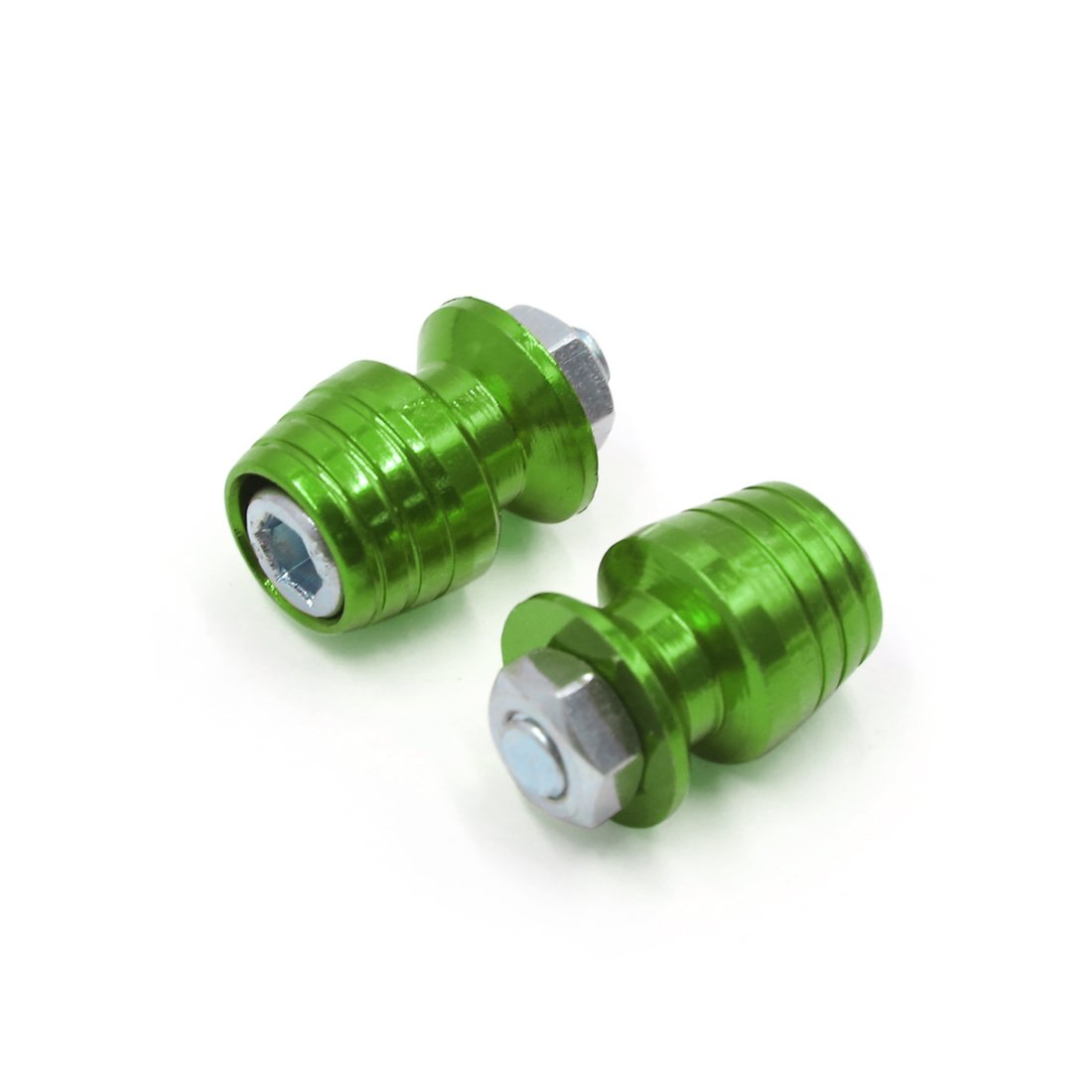 uxcell a17031000ux2080 4Pcs Universal Light Green Metal Motorcycle Conversion License Plate Bolt Screw 4 Pack