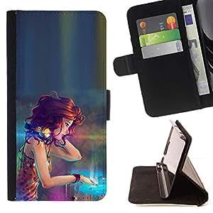 Momo Phone Case / Flip Funda de Cuero Case Cover - DJ Girl;;;;;;;; - LG Nexus 5 D820 D821