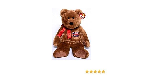 UK Exclusive -MWMTs Stuffed Toy 14 inch BRITANNIA the Bear TY Beanie Buddy