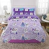 Franco Kids Bedding Super Soft Comforter and Sheet Set with Bonus Sham, 7 Piece Full Size, Disney Frozen