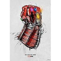 AVENGERS ENDGAME (2019) Original Movie EXCLUSIVE WE LOVE YOU 3000 Promo Poster - 13x20 - Robert Downey Jr. - Mark Ruffalo - Chris Evans - Chris Hemsworth