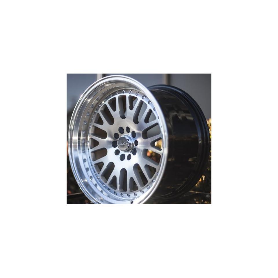 VARRSTOEN 2013 STYLE ES7 19X9.5 +12 19X11 +15 5X114.3 SILVER MACHINED WHEEL RIMS (set of four wheels)