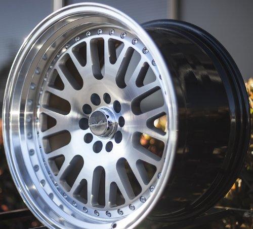 VARRSTOEN 2013 STYLE ES7 19X9.5 +12 19X11 +15 5X114.3 SILVER MACHINED WHEEL RIMS (set of four wheels) (Rays Rims)