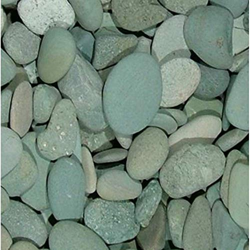 (2 Pounds Decorative Stones, Green Seaside Beach Pebbles, 32 oz Bag, Rocks for Indoor or Outdoor Decorative Stones for Craft Projects, Vase Fillers, Succulents, Cactus Pots, Terrarium Plants)
