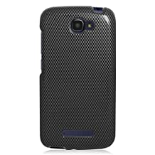 Eagle Cell Alcatel OneTouch Fierce 2 7040T/Pop Icon A564C Snap On Protector Case - Retail Packaging - Carbon Fiber