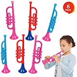 ArtCreativity 13 Inch Plastic Trumpets, Set of