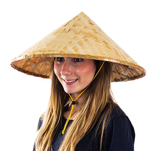 Headwear Hat Asian Hats Rice Patty Sun Adult Costume