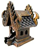 Miniature Thai Buddhist Wood Carving for Spiritual Haunted Spirit House Temple by Thai Spirit House