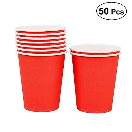 Amazon.com: BESTOYARD 50 vasos desechables de papel para ...